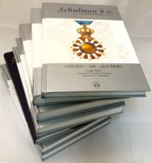 Schulman Netherlands : Very nice lot with 8 Auction catalogues from 2015 to 2017