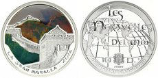 Andorra, Principality, 10 Diners Silver 2009 Great Wall of China in color, KM 427, Proof