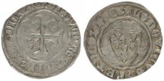 France, Louis XI Le Prudent, Silver Blanc a la Couronne ND (1461-1474), A.VF
