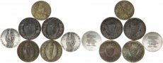 Luxembourg, Grand Duchy, Charlotte, Superb Lot of 7 Silver Medallic coins 1963-1966, all UNC