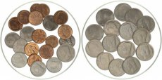 Belgium, Kingdom, Baudouin I, Superb lot with 36 Belgian Base metal coins, all in UNC