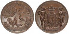 Belgium, Kingdom, Bronze Medal Poultry Association Award Medal, Antwerp ND, XF