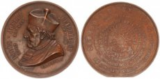 Belgium, Kingdom, Bronze Medal Death of Louis-Joseph Delebeque, Bisshop in Ghent, 1864, XF