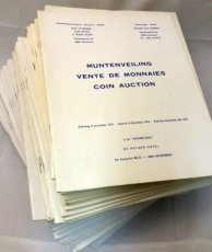 Willem van Alsenoy : Extensive and Nice lot with 57 Auction catalogues from 1978 to 2013