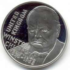 Great Britain, Kingdom, Elisabeth II, 20 Euro Silver 1996 Winston Churchill, Proof