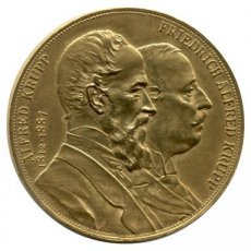 Germany, Brass medal, Unveiling of the Alfred Krupp Monument at Essen 1892, XF