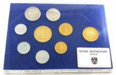 Austria, Republic, Official Annual Proof Coin Set (8) 1987 in blister, KM# PS 48, Proof