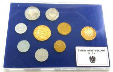 Austria, Republic, Official Annual Proof Coin Set (7) 1988 in blister, KM# PS 49, Proof