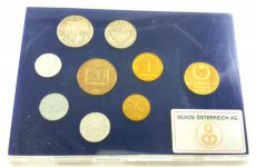 Austria, Republic, Official Annual Proof Coin Set (8) 1989 in blister, KM# PS 50, Proof