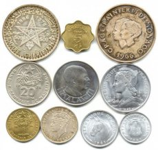auction9/01270 World, Mixed Countries *M*, Good lot with 10 different coins, better types and silver included !
