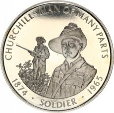 Falkland Islands, 50 Pence 2005 Copper-nickel Churchill - Man of many Parts soldier, KM NL, PROOF