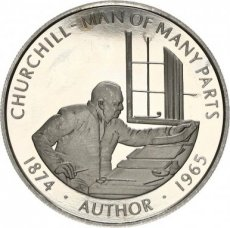 Falkland Islands, 50 Pence 2005 Copper-nickel Churchill - Man of many Parts, KM NL, PROOF