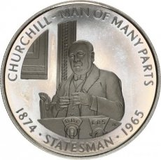Falkland Islands, 50 Pence 2005 Copper-nickel Churchill - Man of many Parts Statesman, KM NL, PROOF