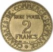 France, 2 Francs Brass 1926, KM 877, VF