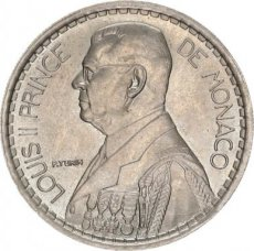 Monaco, 20 Francs Copper-Nickel 1947, KM 124, A.UNC