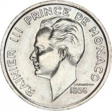 Monaco, 100 Francs Copper-Nickel 1956, KM 134, XF