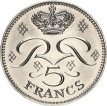 Monaco, 5 Francs Copper-Nickel 1976, KM 150, UNC