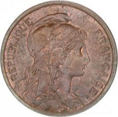 France, 2 Centimes Bronze 1902, KM 841, SUP