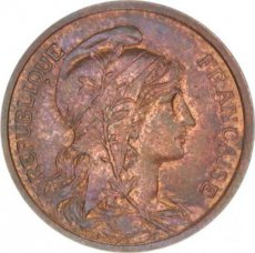 France, 2 Centimes Bronze 1920, KM 841, SUP
