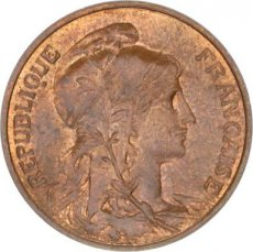 France, 5 Centimes Bronze 1911, KM 842, SUP
