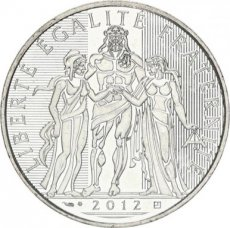 France, 10 Euro Silver 2012 Hercules, UNC