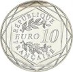 France, 10 Euro Silver 2016 French Cocq, UNC