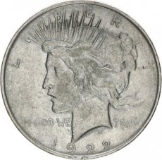 United States, 1 Dollar Silver Peace type, KM 150, VF