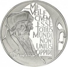 Netherlands, 25 Ecu Silver 1991, Erasmus, Proof