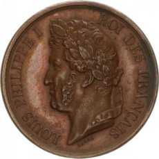 France, Superb Bronze Medal Louis Philippe I, XF